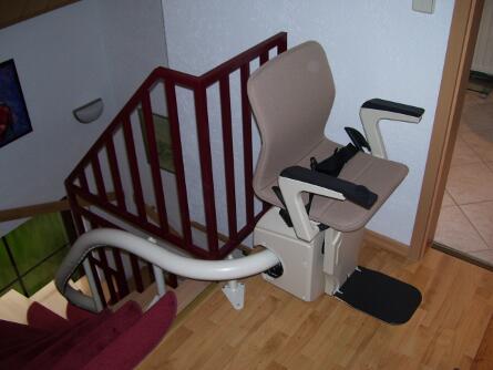 Einrohrsystem-Treppenlift